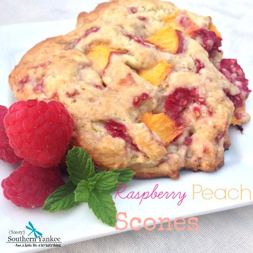 Raspberry Peach Scones 4