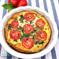 BLT Quiche with Potato Crust - Low Carb and Whole 30 Approved