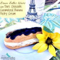 Brown Butter Eclairs with Dark Chocolate Caramelized Banana Pastry Cream 3