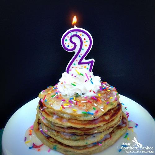 Funfetti Cake Batter Pancakes {Gluten Free} And 2nd