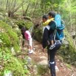 高知旅行2日目~四万十川源流を求めて家族でトレイルを歩く~