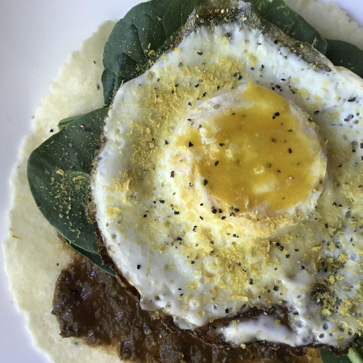 Easy Breakfast Taco with Sasya