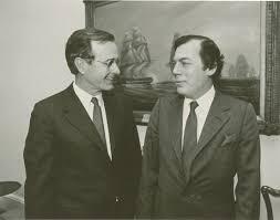 إدغار برونفمان مع جورج بوش الأب