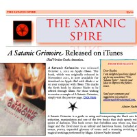 "Subscribe to ""The Satanic Spire"" Newsletter"