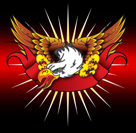 Free Soaring Eagle Vector