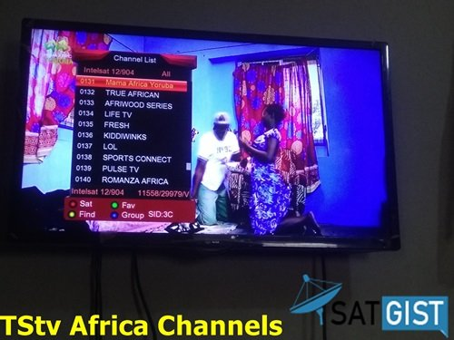 How To Track TStv Africa On Intelsat 12/904 at 45.0°E, TStv Africa Frequency