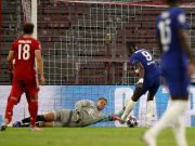 Bayern Munich will meet Barcelona in the Champions League quarter-finals after Robert Lewandowski inspired them to a crushing 7-1 aggregate win over Chelsea.