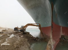 The guy driving Suez Canal excavator said he had 3 hours of sleep a night and has been paid no overtime