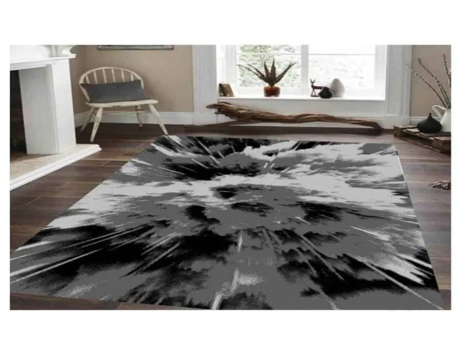 שטיח מודרני שחור אפור 17NO21