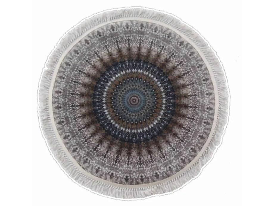 שטיח אפור עגול קלאסי רייאן