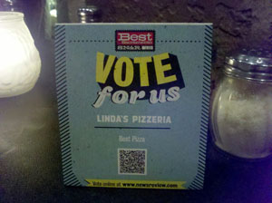 QR Code for Linda's Pizzeria - Effective Use of a QR Code