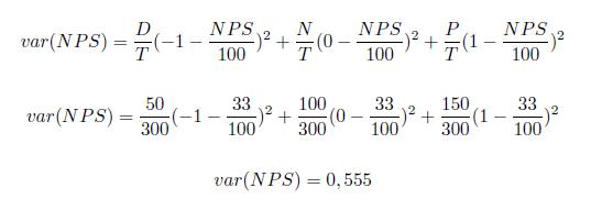 cálculo de variância - margem de erro do net promoter score - satisfação de clientes - tracksale