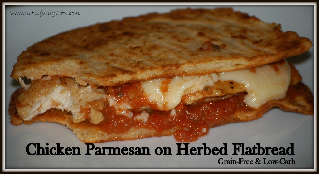 Chicken Parmesan on Herbed Flatbread (Grain-Free)