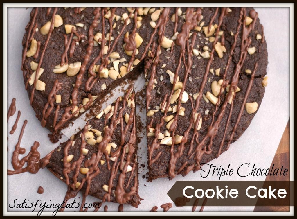 Triple Chocolate Cookie Cake