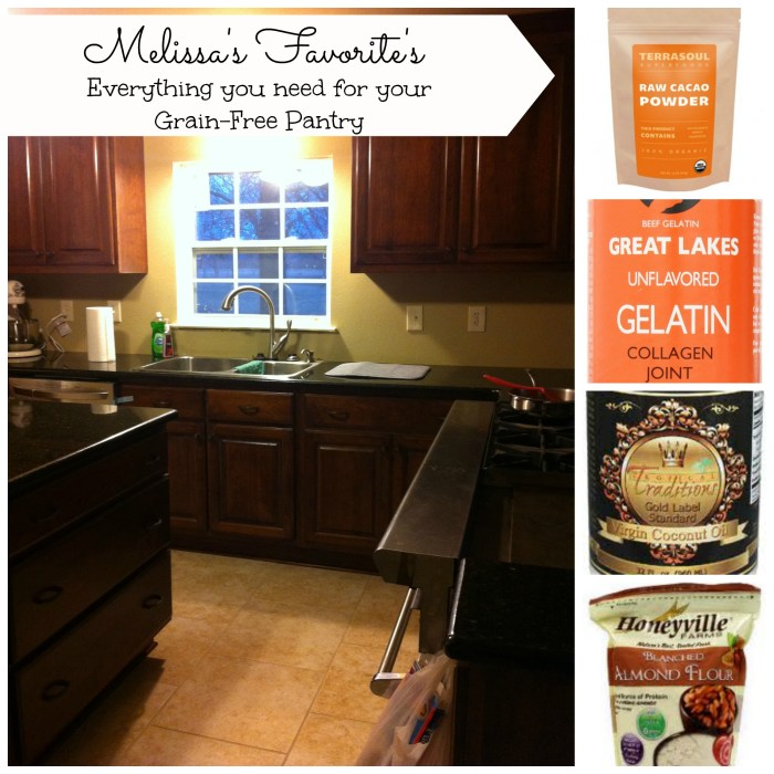pantry items collage