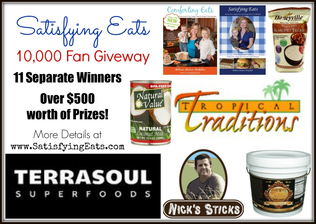 Satisfying Eats 10,000 Fan Giveaway!