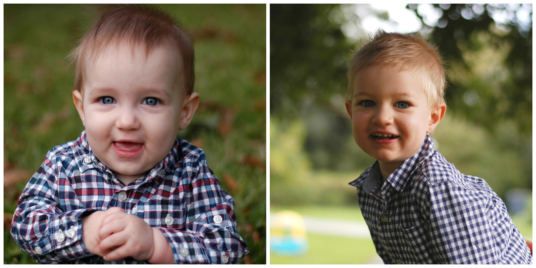 Connor 8 months Hunter 2