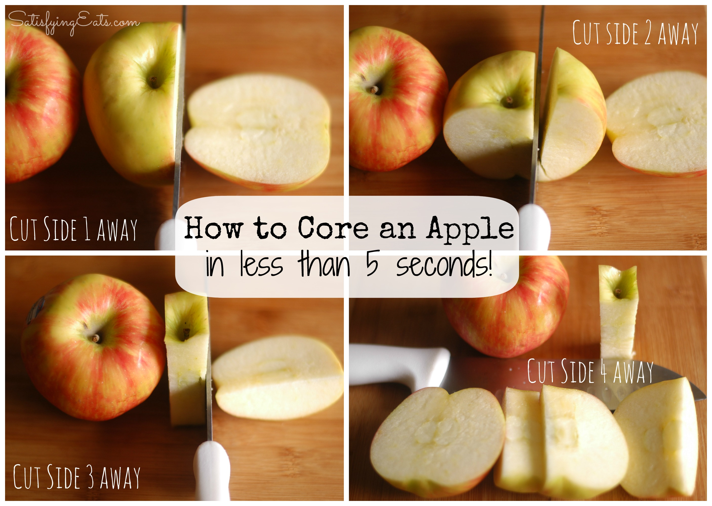 How to cut an apple Collage