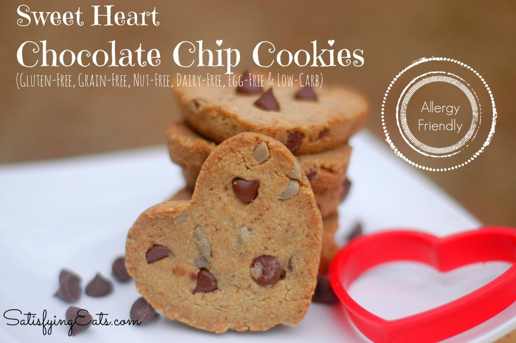 Sweet Heart Chocolate Chip Cookies (Allergy Friendly!)