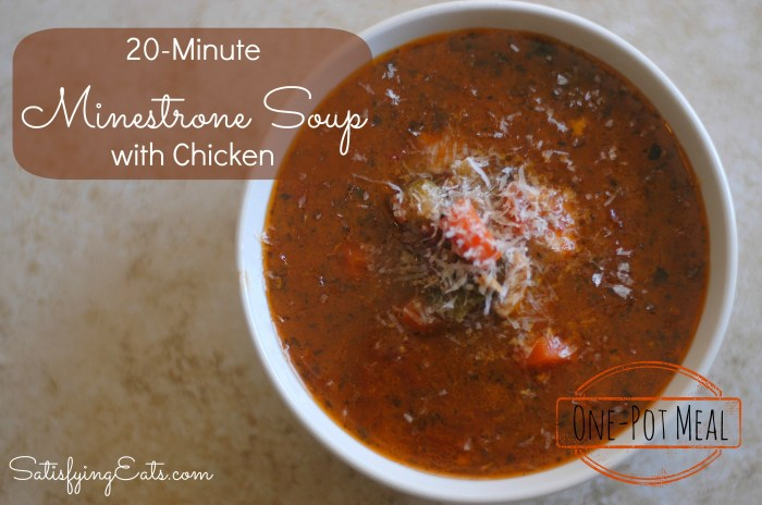 Minestrone Soup with Chicken