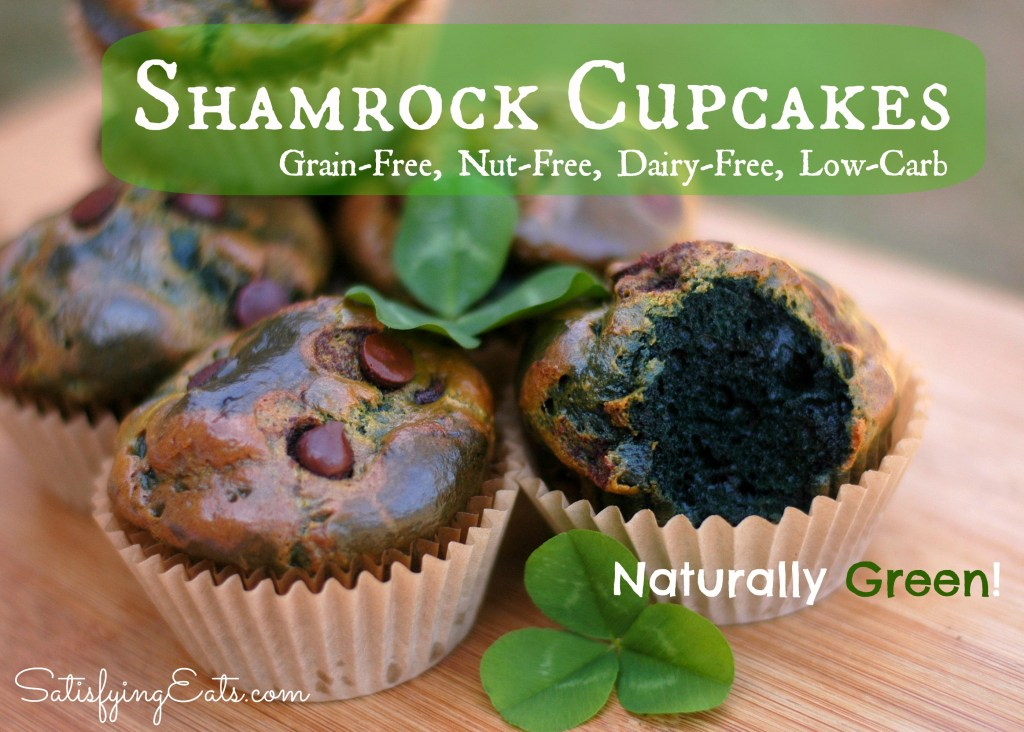 Shamrock Cupcakes-Naturally Green