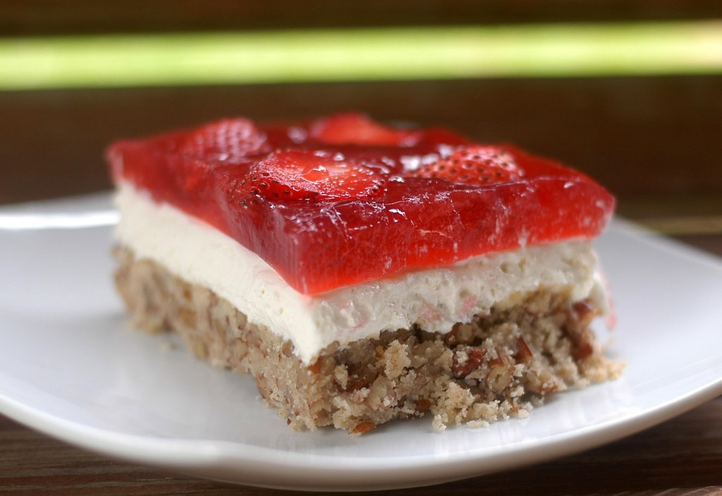 "Amazing Strawberry ""Pretzel"" Salad (Low-Carb)"