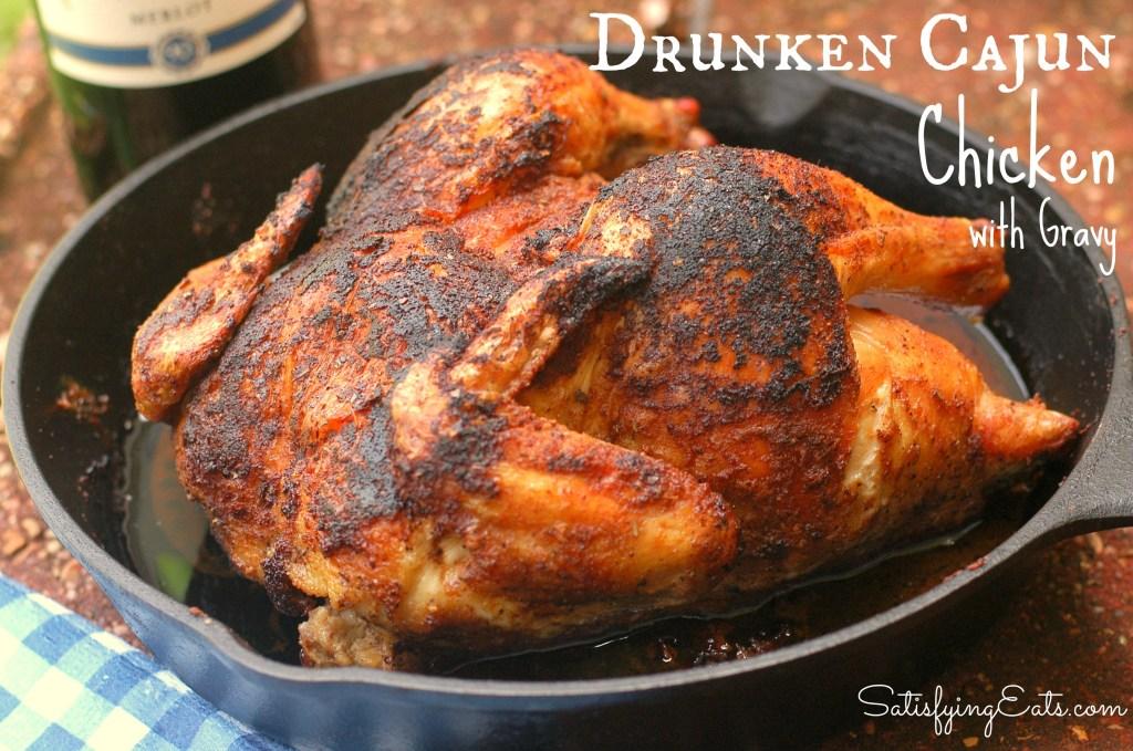 Drunken Cajun Chicken with Gravy