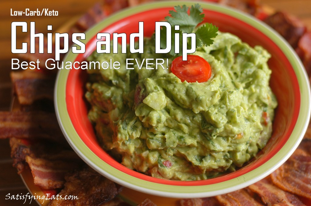 Low-Carb/Keto Chips and Dip (Best Guacamole Ever!)