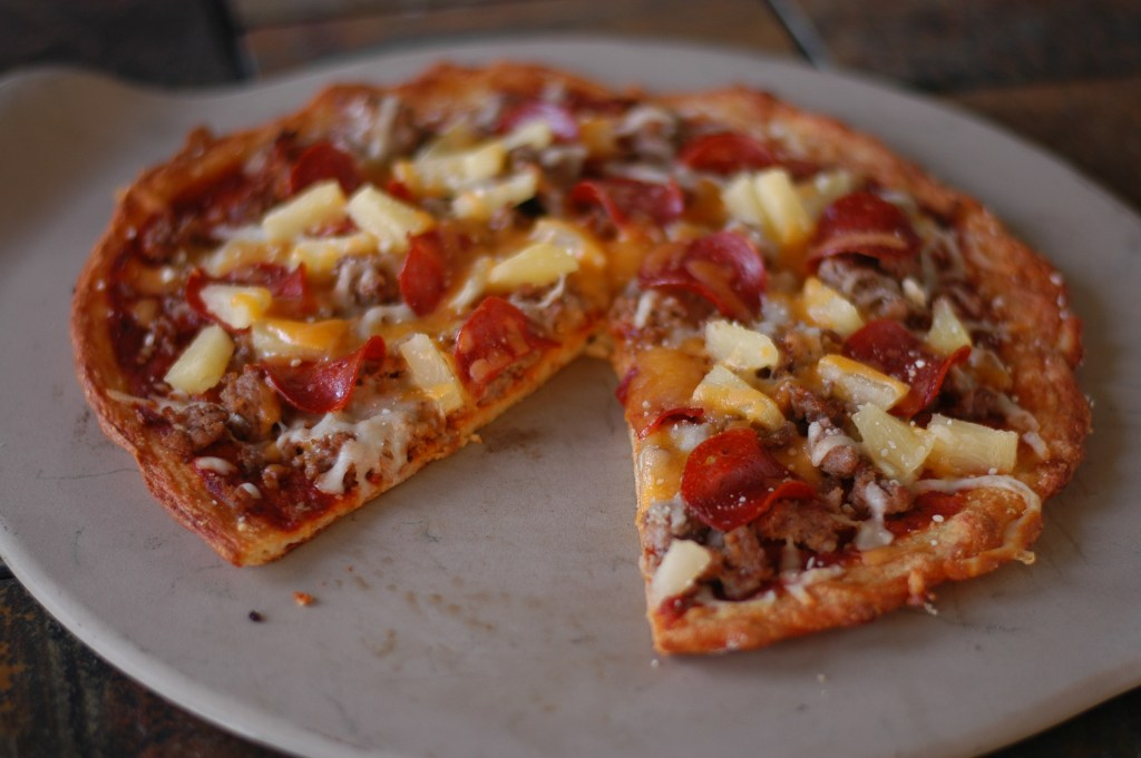 Family Size Fathead Pizza (regular or BBQ) Using pizza kits!
