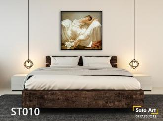 Tranh sơn dầu phòng ngủ