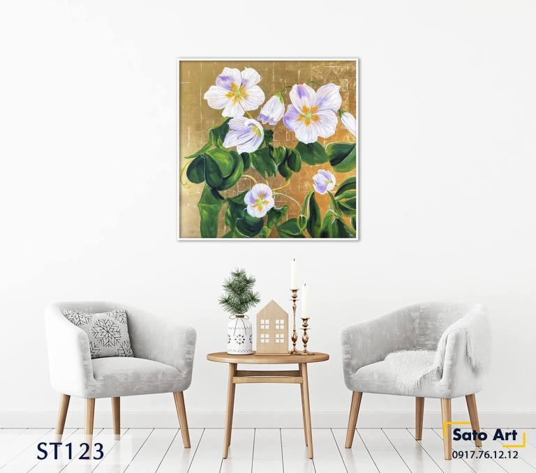 Mua tranh sơn dầu hoa