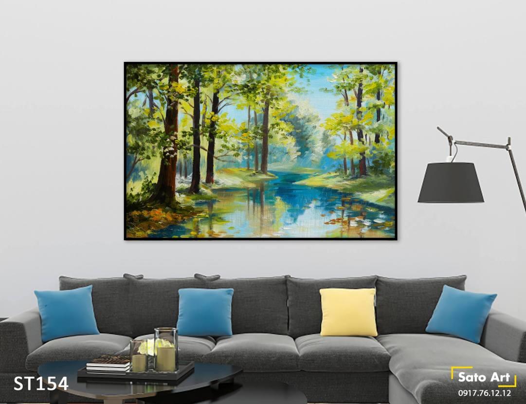Tranh vẽ phong cảnh rừng cây