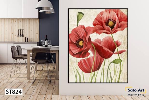 Tranh sơn dầu bông hoa đà nẵng