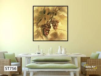Tranh sơn dầu quả nho
