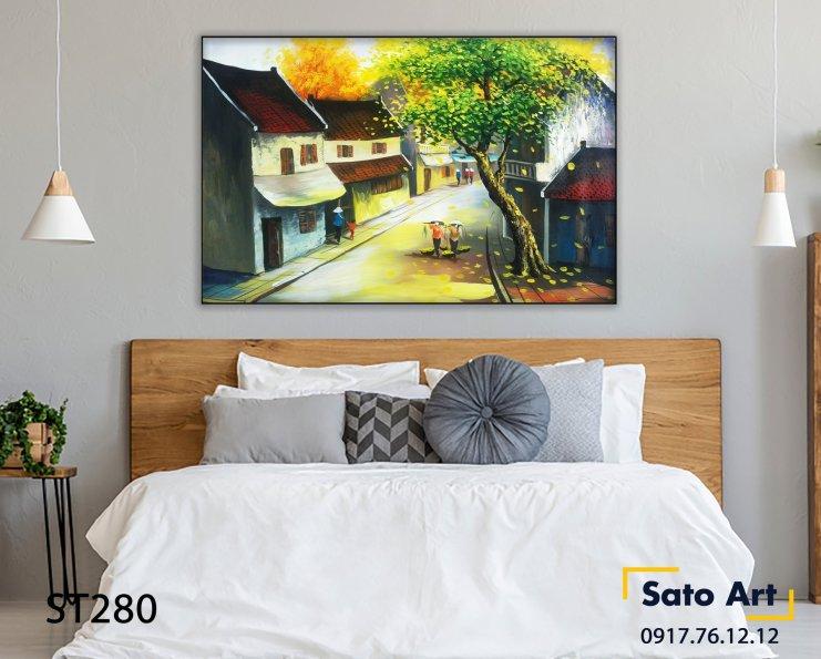 Tranh vẽ phong cảnh Hà Nội