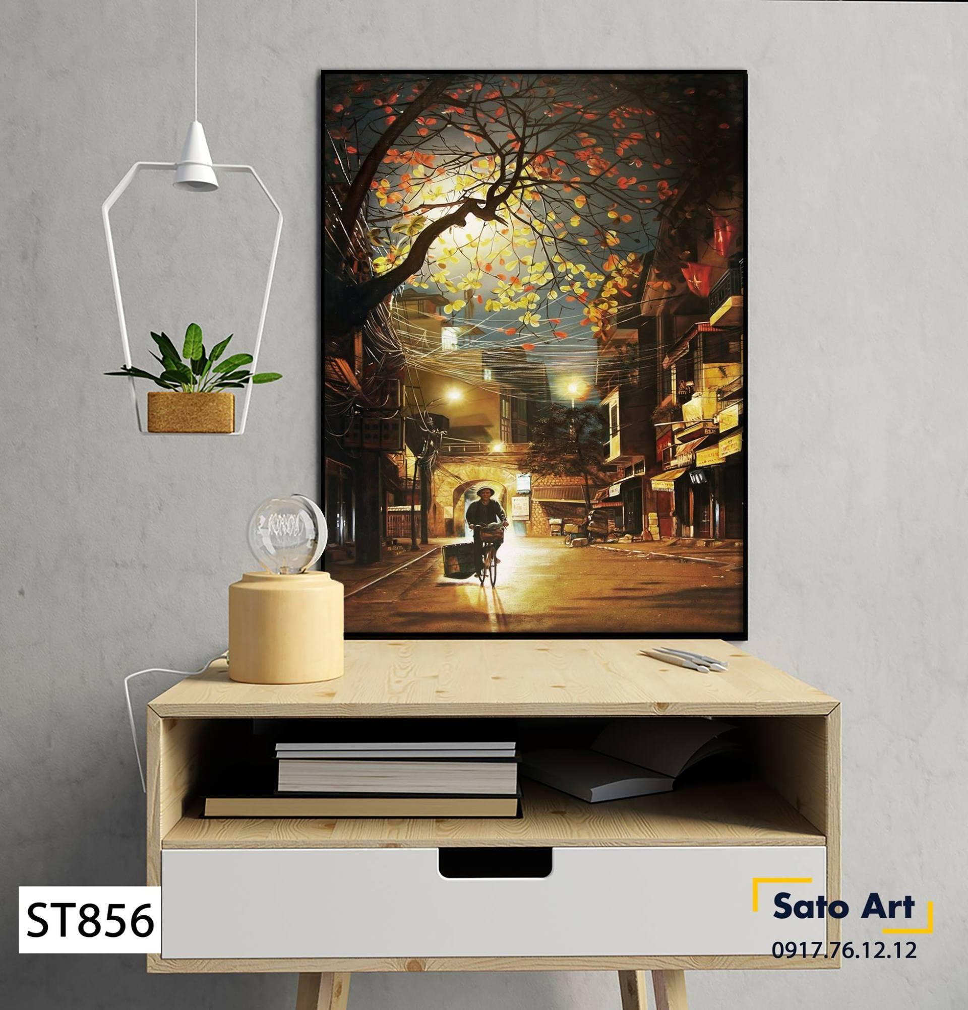 Tranh sơn dầu đường phố rẻ nhất Hà Nội