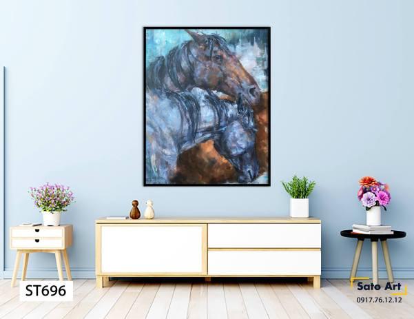 Tranh ngựa trừu tượng