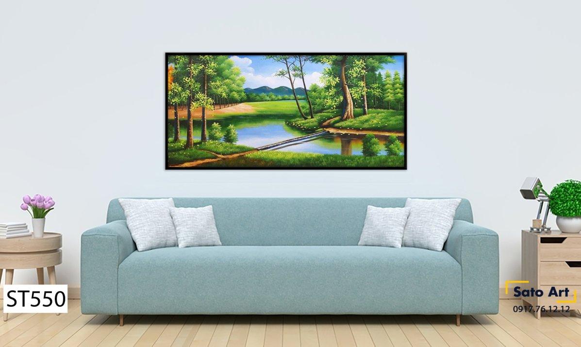 Tranh phong cảnh sông nước