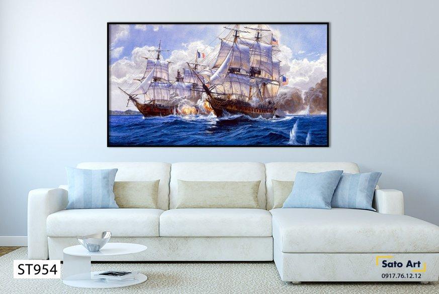 Vẽ tranh chiêc thuyền nghệ thuật
