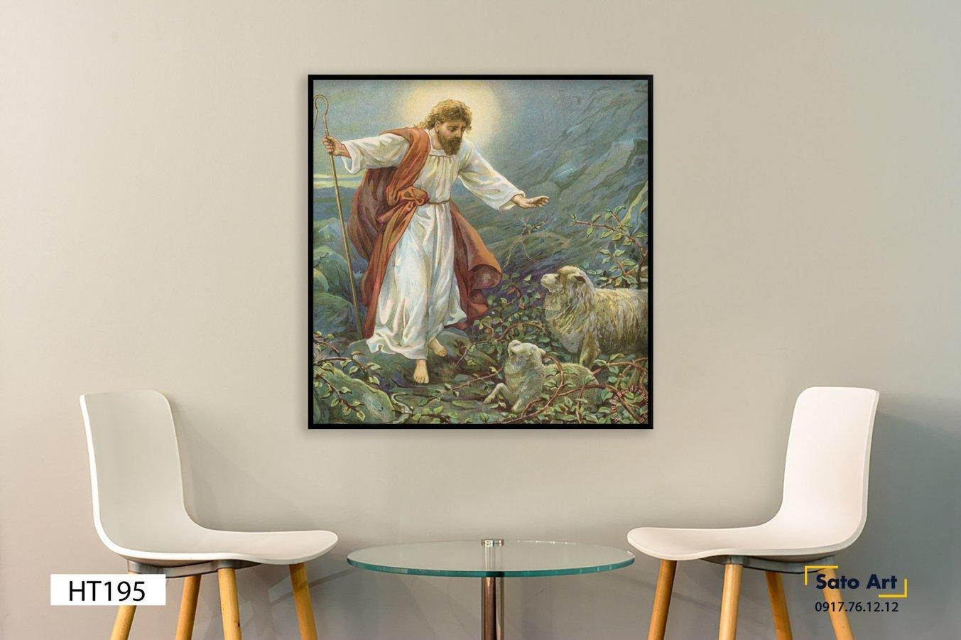Hình ảnh tranh sơn dầu Đức Chúa