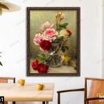 Tranh Vase Of Roses
