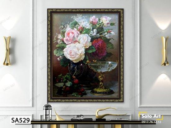 tranh_vintage_framed_textured_print_Cupid's Goblet