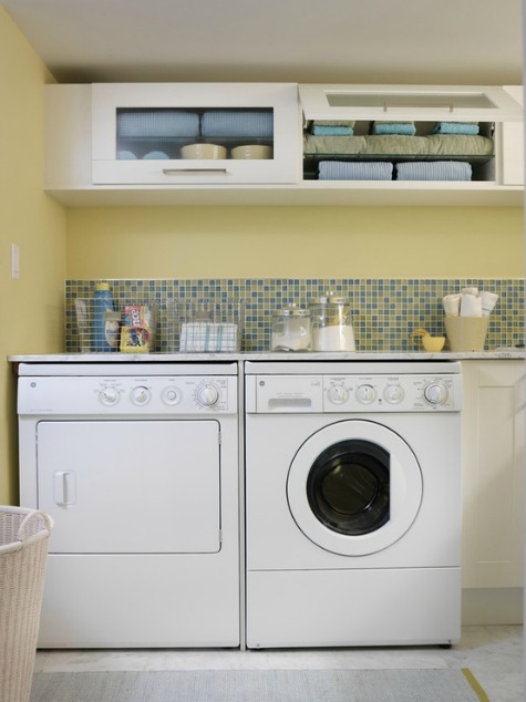 Small Laundry Room Ideas {Reader Question} - Satori Design ... on Small Laundry Room Cabinets  id=71196