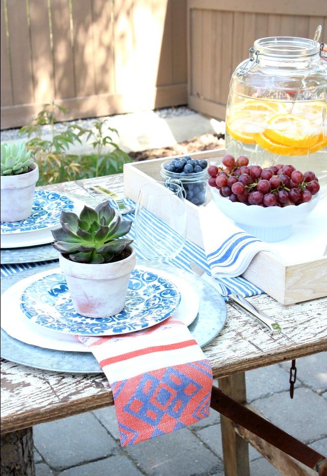 Flea Market Style Outdoor Table Setting - Satori Design ... on Backyard Table Decor id=49675