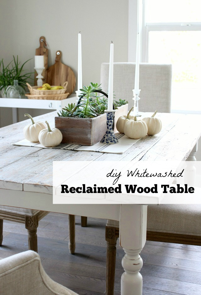 Whitewashed Reclaimed Wood Dining Table Satori Design