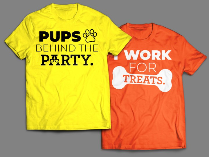 Turn Up With Your Pup Event T-Shirts