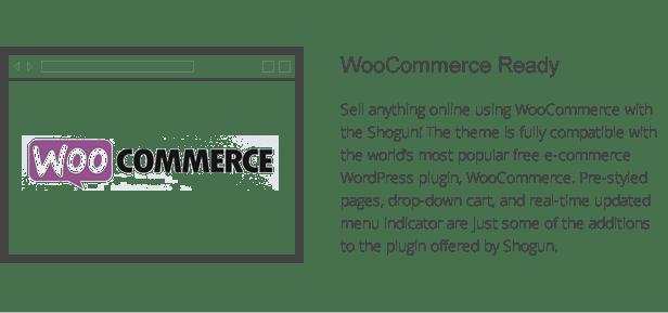 shogun features - woocommerce integration