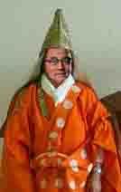 遂に護憲三昧境の法力を得た護憲教大僧正・岡田法主尊像想像図