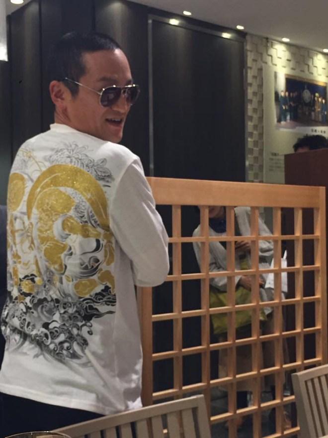 2016本和菓衆での佐藤屋八代目による「師匠」コスプレ。作中の登場人物になりきって。