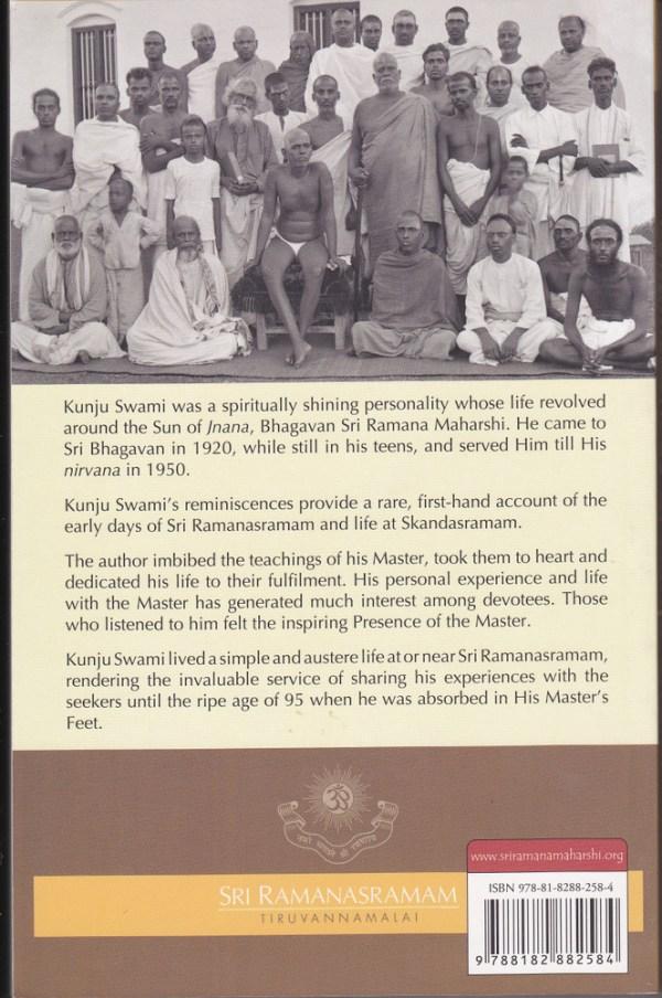 Reminiscences of Kunju Swami Backcover